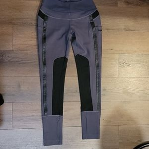 Blanc Noir Mesh Paneled Gray Leggings